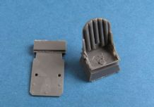 Pavla S48024 1/48 Resin Supermarine Spitfire seat and armoured plate